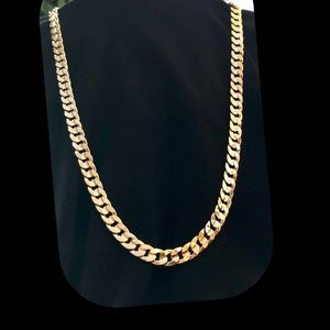 14k Gold Plated Concave Chain Necklace